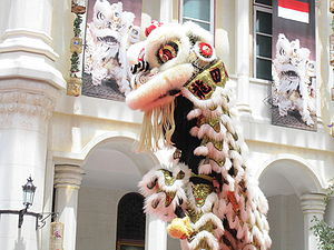 Dance in China - A lion dance
