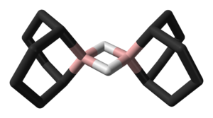 9-Borabicyclo(3.3.1)nonane - Image: 9 BBN dimer xtal 3D sticks skeletal