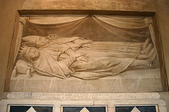 Bernard of Italy - 17th century commemorative fresco from Bernard's grave in Milan, Italy.