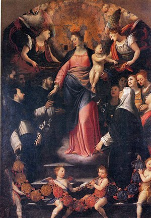 Agostino Ciampelli - Madonna of the Rosary, by Agostino Ciampelli