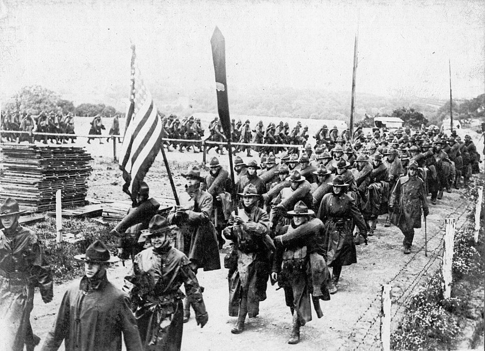 AEF marching in France