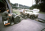 AIM-7 and AIM-9 missiles on trailer at Ramstein Air Base in 1980.JPEG