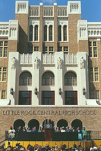 Little Rock, Arkansas - President Bill Clinton led celebrations of the 40th anniversary of desegregation at Little Rock Central High School.