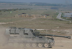 AS-90 - AS-90 on Salisbury Plain