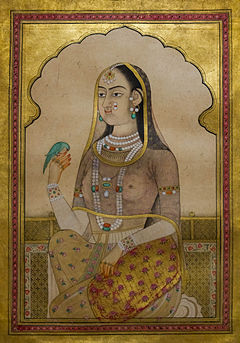 A Bejeweled Maiden with a Parakeet.jpg