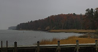 National Register of Historic Places listings in James City County, Virginia - Image: A Cloudy Croaker Landing Panorama (6350783158)