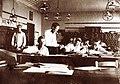 A Császári és Királyi Katonai Műszaki Főiskola (ma HTL Mödling néven főiskola) kadétjai a tanteremben. Fortepan 75944.jpg