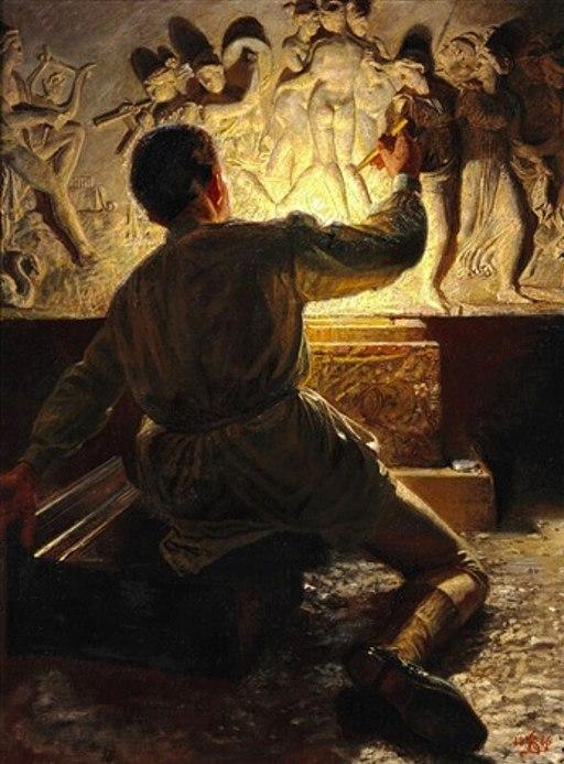 A Roman Plasterer (Zahrtmann)
