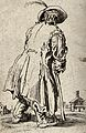 A beggar dressed in rags limping with the aid of a staff tow Wellcome V0020329.jpg