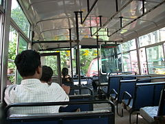 A bus in tikiapara plying between tikiapara BBDbag