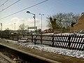 A snowy Welwyn North railway station platform - geograph.org.uk - 1625397.jpg