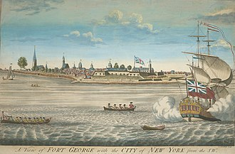 New York City - Fort George and the city of New York c. 1731