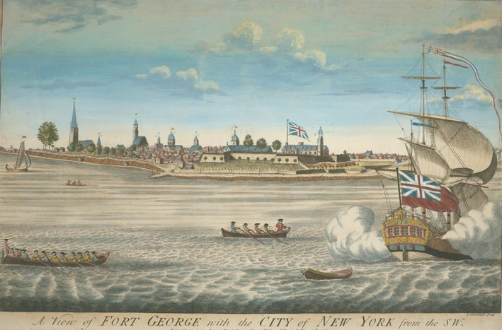A view of Fort George with the city of New York, from the SW