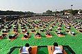A view of the 4th International Day of Yoga 2018, at the Forest Research Institute, in Dehradun, Uttarakhand on June 21, 2018.JPG