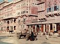 A view of the streets of Jaipur by Jules Gervais-Courtellemont.jpg
