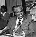 Aankomst leider Rhodesisch Patriottisch Front , Joshua Nkomo (kop), Bestanddeelnr 929-6774.jpg