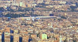 Abbasiyyin Stadium - The Abbasiyyin Stadium from a distance
