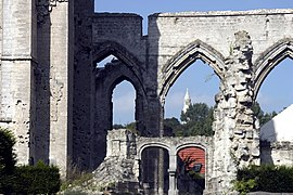 Ruins of the church destroyed during World War I
