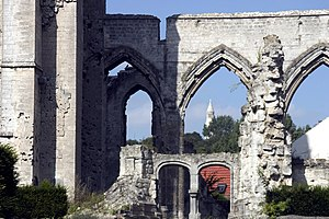 Ablain-Saint-Nazaire - Ruins of the church destroyed during World War I
