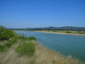 Abukuma River - The Abukuma River in 2005 at Kakuda in Miyagi
