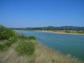 Abukuma River - The Abukuma River in 2005 at Kakuda in Miyagi