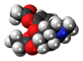 Acetylpropionylmorphine molecule spacefill.png