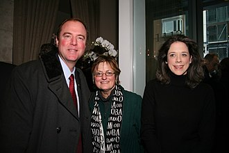 Adam Schiff - Schiff and Heather Podesta at a party hosted by the Podesta Group in Washington, D.C. honoring the inauguration of Barack Obama