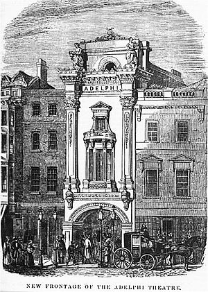 Samuel Beazley - Beazley's façade for the Adelphi Theatre, 1840