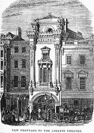 Samuel Beazley - Beazley's façade for the Adelphi Theatre, 1840
