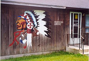 Delaware Nation at Moraviantown - Image: Administration and library of Moravian 47, Ontario