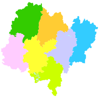 Longyan - Image: Administrative Division Longyan
