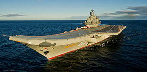 An overhead view of Admiral Kuznetsov.