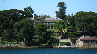 Australia Station - Admiralty House, Sydney, the residence for the Commander-in-Chief of the Royal Navy's Australia Squadron from 1885 to 1913