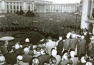 Ceaușescu's speech of 21 August 1968 - Revolution Square, Bucharest on 21 August 1968