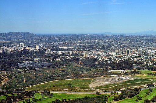 Aerial - San Diego, CA - Morley Field and vicinity 01