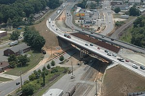 U.S. Route 52 in North Carolina - Construction of replacement bridges over Liberty Street