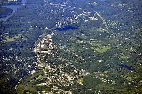Aerial view of Mount Kisco