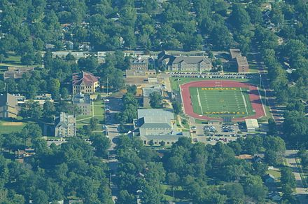 Aerial view of Ottawa University Aerial view of Ottawa University Ottawa Kansas 09-04-2013.JPG