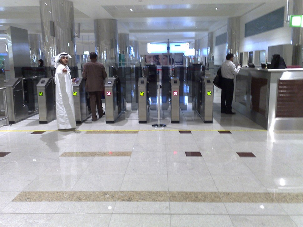 Aeroport de dubai terminal 3 egate (echecking of passport)