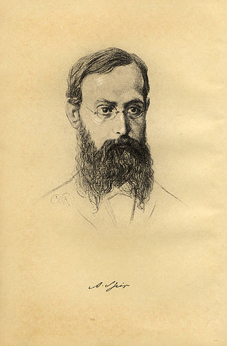 Afrikan Spir - Drawing by Charlotte Ritter from a photo of Robert Kaiser, Geneva, 1887