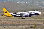 Airbus A320-214 'G-OZBX' Monarch (24642449702).jpg