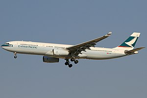 Cathay Pacific fleet - Cathay Pacific Airbus A330-300  at Dubai in former livery