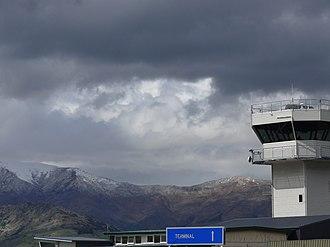 Queenstown Airport - Queenstown Airport's control tower