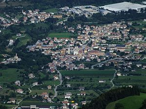 Alano di Piave - Aerial view of Alano di Piave