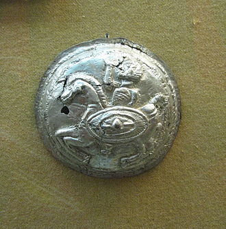 Phalera (military decoration) - Image: Alba Iulia National Museum of the Union 2011 Rider from Lupu Dacian Silver Hoard