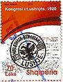 Albania 2010 70 leke stamp - Kongresi i Lushnjës.jpg