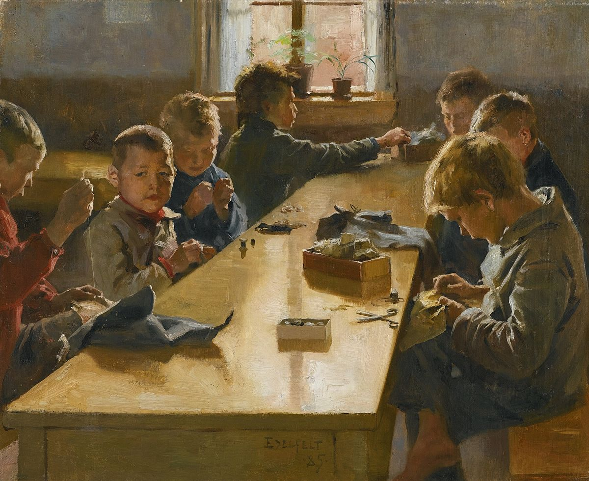 Albert Edelfelt - The Boys' Workhouse, Helsinki (1885).jpg