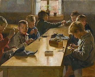 "Workhouse - ""The Boys' Workhouse"" by Albert Edelfelt (1885)"