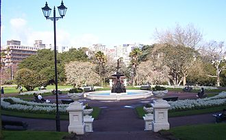 Albert Park, Auckland - Fountain viewed from northern side