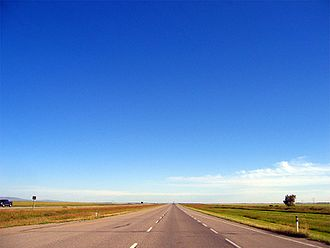 Alberta Highway 2 - Highway 2 is a lightly travelled divided highway near Claresholm.